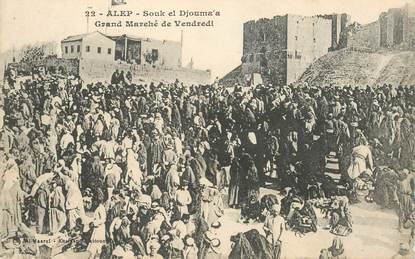 "CPA SYRIE ""Alep, Souk el Djouma'a"""