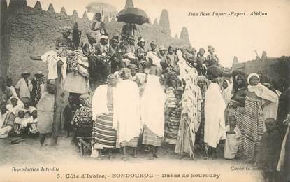 """CPA COTE D'IVOIRE """"Bondoukou, une danse"""""""