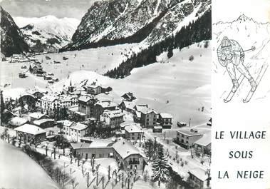 """CPSM FRANCE 73 """"Pragnolan La Vanoise, le village sous la neige"""""""