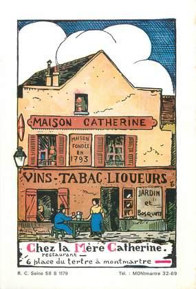 """CPSM FRANCE 75018 """"Paris, le restaurant de la mère Catherine"""""""