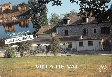 """CPSM FRANCE 15 """"Lanobre, bar hôtel restaurant la villa de Val"""""""