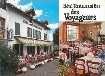 """CPSM FRANCE 15 """"Le Rouget, hôtel des Voyageurs"""""""
