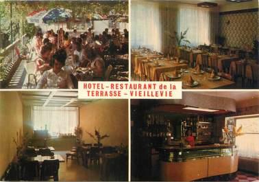 """CPSM FRANCE 15 """"Vieillevie, hôtel restaurant de la terrasse"""""""
