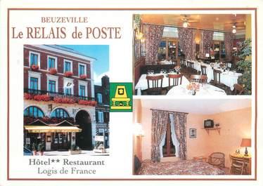 """CPSM FRANCE 27 """"Beuzeville, hôtel restaurant le relais de poste"""""""