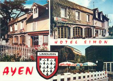 "CPSM FRANCE 19 ""Ayen, hôtel Simon"""
