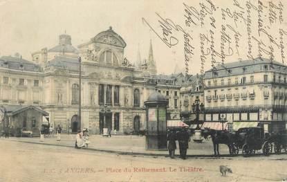 """CPA FRANCE 49 """"Angers, place du Ralliement, le théâtre"""""""