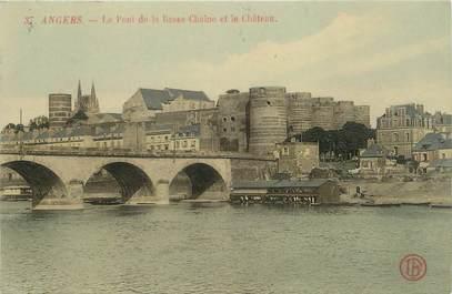 """CPA FRANCE 49 """"Angers, le pont de la basse Chaine et le château"""""""