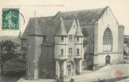 """CPA FRANCE 49 """"Angers, le petit château château et la chapelle"""""""