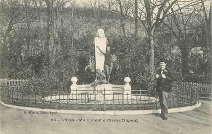 """CPA FRANCE 69 """"Lyon, monument à Pierre Dupont"""""""