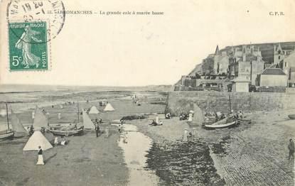 """CPA FRANCE 14 """"Arromanches, la grande cale à marée basse"""""""