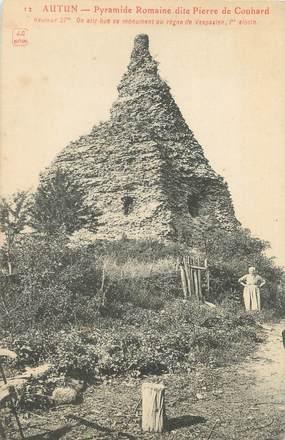 "CPA FRANCE 71 ""Autun, pyramide Romaine dite Pierre de Couhard"""