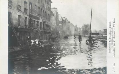 """CPA FRANCE 75 """"Paris, Exposition de Bienfaisance au bénéfice des sinistrés"""" / INONDATION DE 1910"""