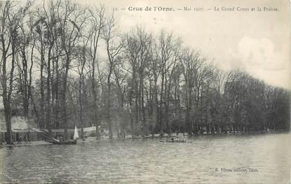 """CPA FRANCE 14 """"Caen, le grand cours et la prairie"""" / INONDATION 1910"""