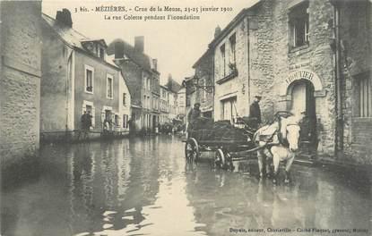 """CPA FRANCE 08 """"Mézières, la rue Colette"""" / INONDATION 1910"""
