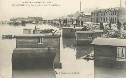 "CPA FRANCE 08 ""Charleville, cité Pinchard dite Tivoli Plage"" / INONDATION 1910"