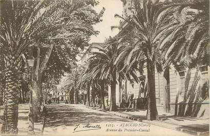 """/ CPA FRANCE 20 """"Ajaccio, avenue du premier consul"""""""