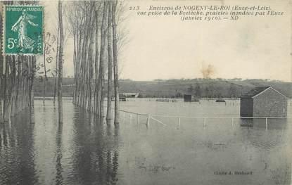 """CPA FRANCE 28 """"Environs de Nogent Le Roi, vue prise de la Bretèche, prairires"""" / INONDATION 1910"""
