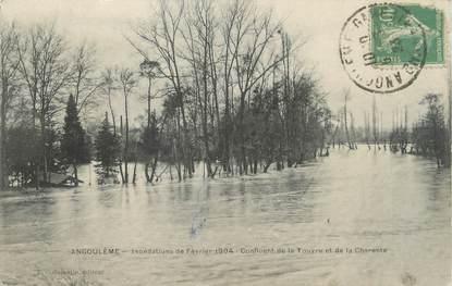 """CPA FRANCE 16 """"Angoulème, confluent de la Touyre et de la Charente"""" / INONDATION 1904"""