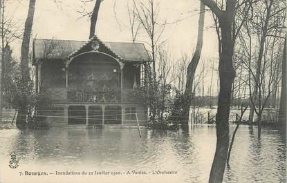 """CPA FRANCE 18 """"Bourges, à Venise, l'Orchestre"""" / INONDATION 1910"""