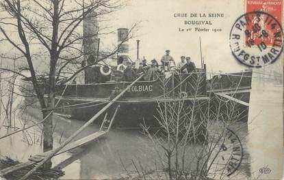 "CPA FRANCE 78 ""Bougival"" / BATEAU / INONDATION 1910"