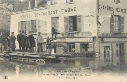 "CPA FRANCE 78 ""Pont Marly, une passerelle rue Saint Louis"" / INONDATION 1910"