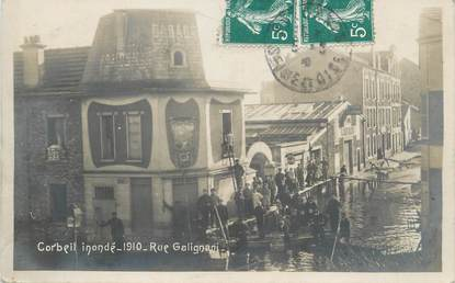 "CPA FRANCE 91 ""Corbeil, rue Galignani"" / INONDATION 1910"