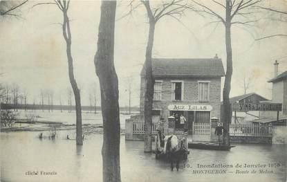 """CPA FRANCE 91 """"Montgeron, route de Melun"""" / INONDATION 1910"""