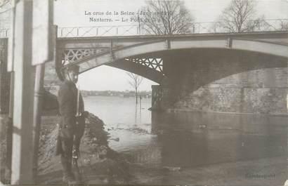 """CPA FRANCE 92 """"Nanterre, le pont de Biais"""" / INONDATION 1910"""