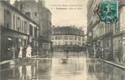 """92 Haut De Seine CPA FRANCE 92 """"Puteaux, rue de Paris"""" / INONDATION 1910"""