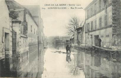 """CPA FRANCE 92 """"Gennevilliers, rue Nouvelle"""" / INONDATION 1910"""