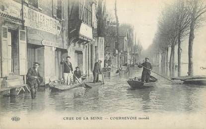"CPA FRANCE 92 ""Courbevoie inondé"" / INONDATION 1910"