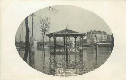 """CARTE PHOTO FRANCE 92 """"Villeneuve La Garenne"""" / INONDATION 1910"""