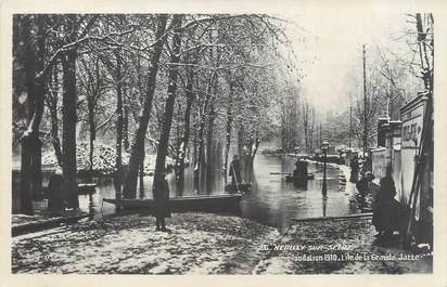 "CPA FRANCE 92 ""Neuilly, l'Ile de la Grande Jatte"" / INONDATION 1910"