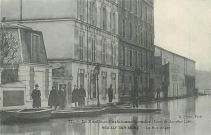 "CPA FRANCE 92 ""Neuilly sur Seine, la rue Soyer"" / INONDATION 1910"