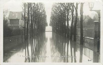 "CPA FRANCE 92 ""Colombes, villa Reine Henriette"" / INONDATION 1910"