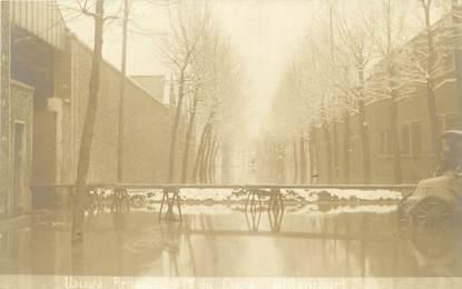 """CPA FRANCE 92 """"Boulogne Billancourt, avenue du Cours,usines Renault"""" / INONDATION 1910"""