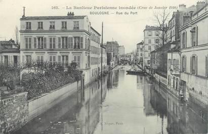 "CPA FRANCE 92 ""Boulogne, rue du Port"" / INONDATION 1910"