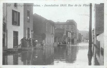 """CPA FRANCE 92 """"Boulogne sur Seine, rue de la Plaine"""" / INONDATION 1910"""