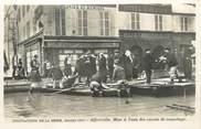 """94 Val De Marne CPA FRANCE 94 """"Alfortville, mise à l'eau des canots de sauvetage"""" / INONDATION 1910"""