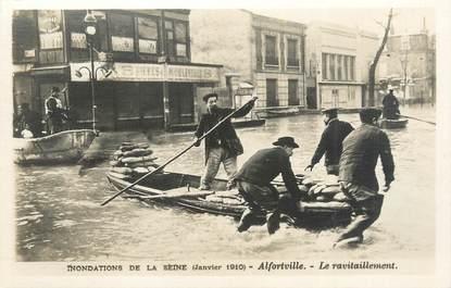 "CPA FRANCE 94 ""Alfortville, le ravitaillement"" / INONDATION 1910"