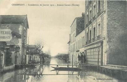 "CPA FRANCE 94 ""Champigny, avenue Carnot"" / INONDATION 1910"