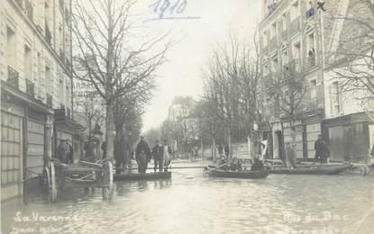 "CARTE PHOTO FRANCE 94 ""La Varenne"" / INONDATION 1910"