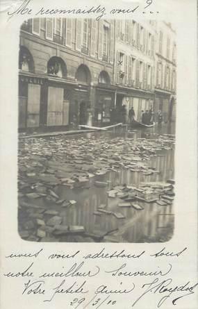 "CARTE PHOTO FRANCE 75006 ""Paris, rue Jacob"" / INONDATION 1910"