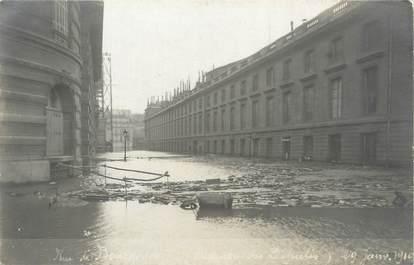 "CARTE PHOTO FRANCE 75 ""Paris, rue de Bourgogne"" / INONDATION 1910"
