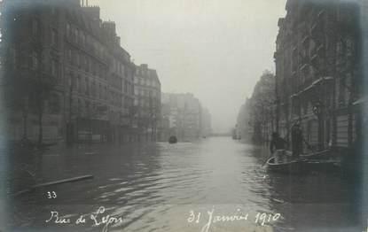 """CARTE PHOTO FRANCE 75 """"Paris, rue de Lyon """" / INONDATION 1910"""