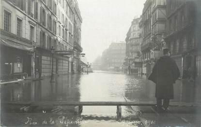 """CARTE PHOTO FRANCE 75 """"Paris, rue de la pépinière"""" / INONDATION 1910"""