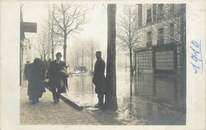 "CARTE PHOTO FRANCE 75 ""Paris"" / INONDATION 1910"
