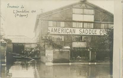 """CARTE PHOTO FRANCE 75 """"Paris, souvenir de l'inondation"""" / INONDATION 1910"""