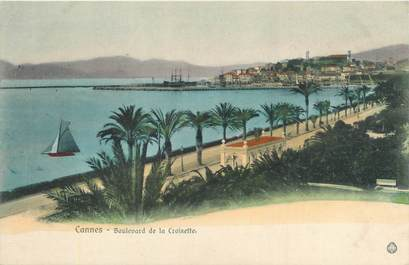 """CPA FRANCE 06 """"Cannes, boulevard de la Croisette"""""""