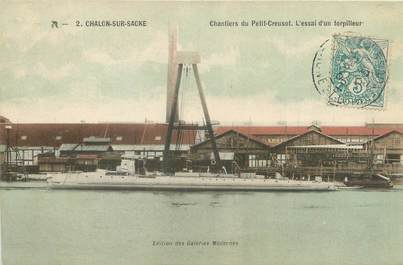 """CPA FRANCE 71 """"Châlon sur Saône, chantiers du petit Creusot"""""""